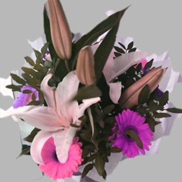 Букет из лилии и герберы