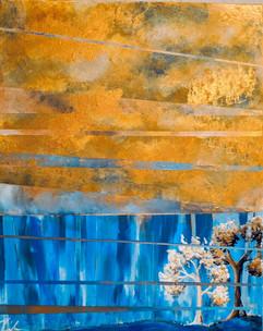 Gold Mirror Landscape