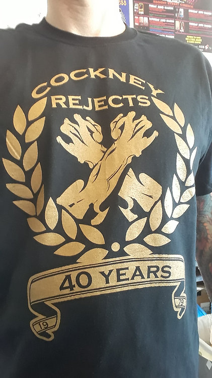 40 Years Gold Logo T-Shirt
