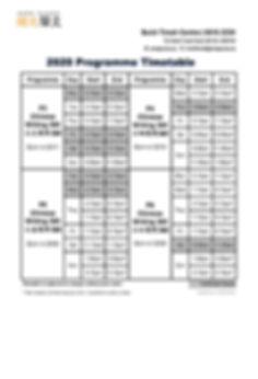 2020 Programme Timetable - BTC (100320)_