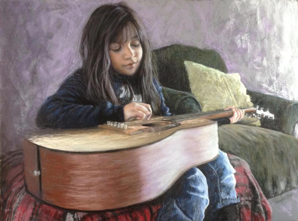 Little Girl with a Big Guitar