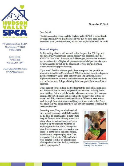 Happy holidays from all of us at the HVSPCA!