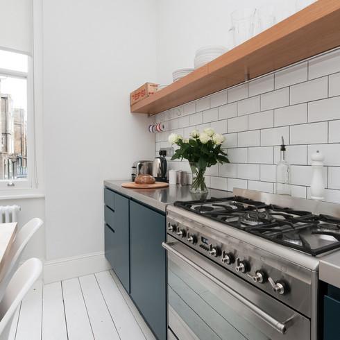Blue kitchen stainless steel worktop.jpg