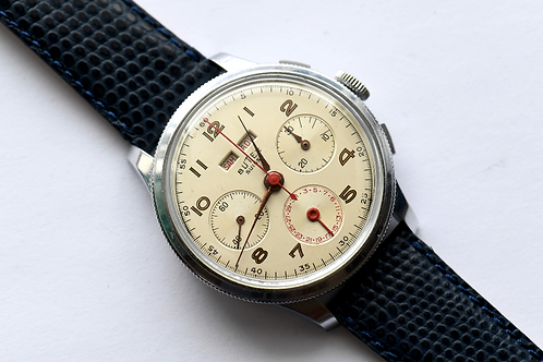 Butex Triple Date Chronograph Cal 185 Landeron Turning Bezel Extremely Rare