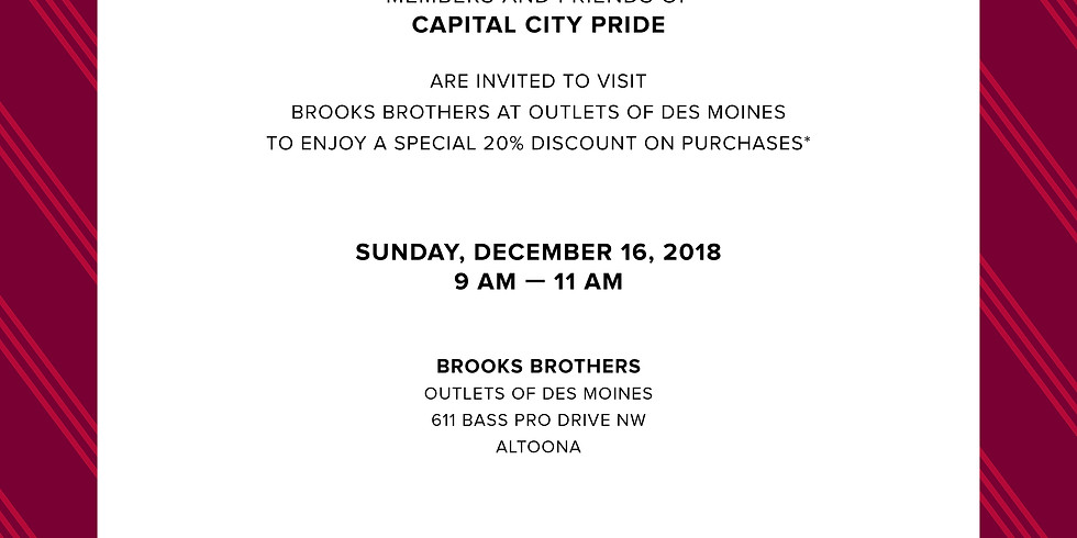 Brooks Brothers Shopping Event
