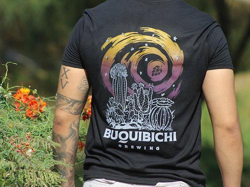 T-Shirt Negra Cactáceas
