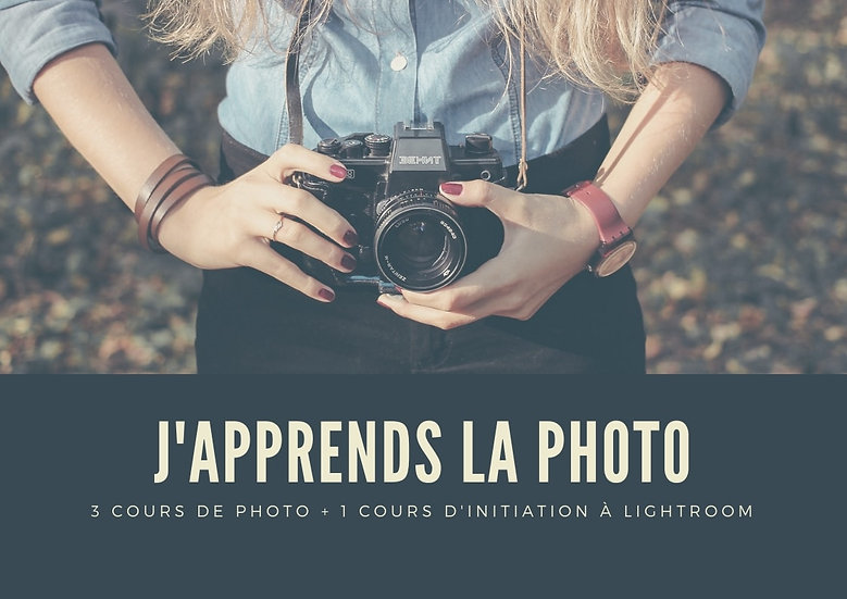 J'apprends la photo et la retouche - 4 cours