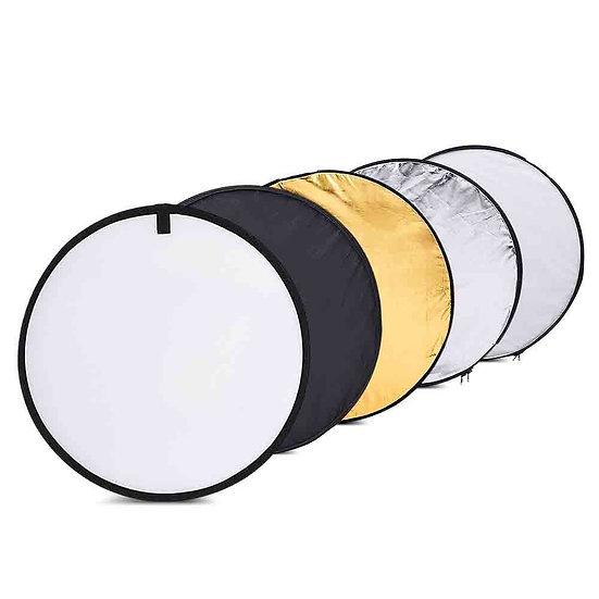Réflecteur de lumière rond 4 en 1 pliable -  60cm