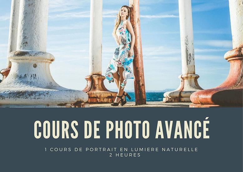 Cours Avancé - Portrait en lumière naturelle - 2H