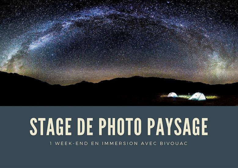 Stage photo - Week-end en immersion + Bivouac - Paysage d'art