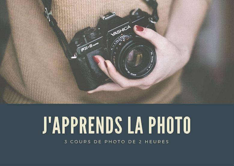 J'apprends la photo - 3 cours