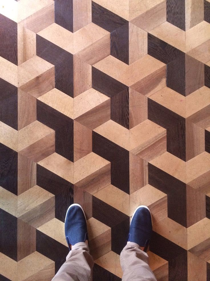 amazing 3D geometric parquet floor