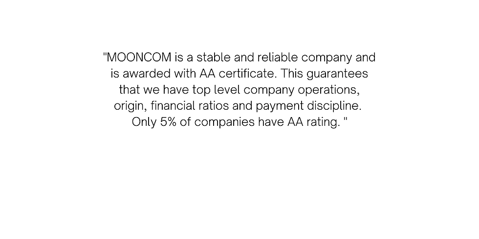 _MOONCOM is a stable and reliable compan