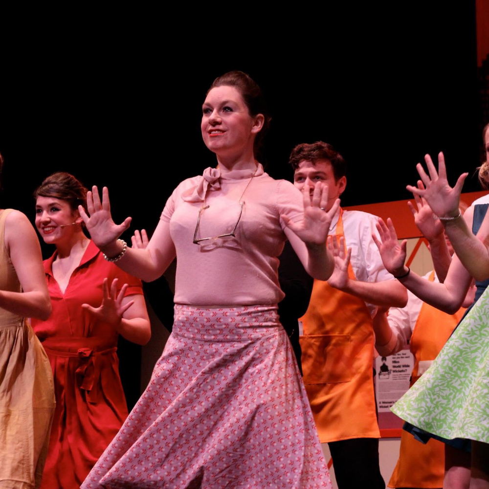 Nic bringing the jazz hands to How to Succeed