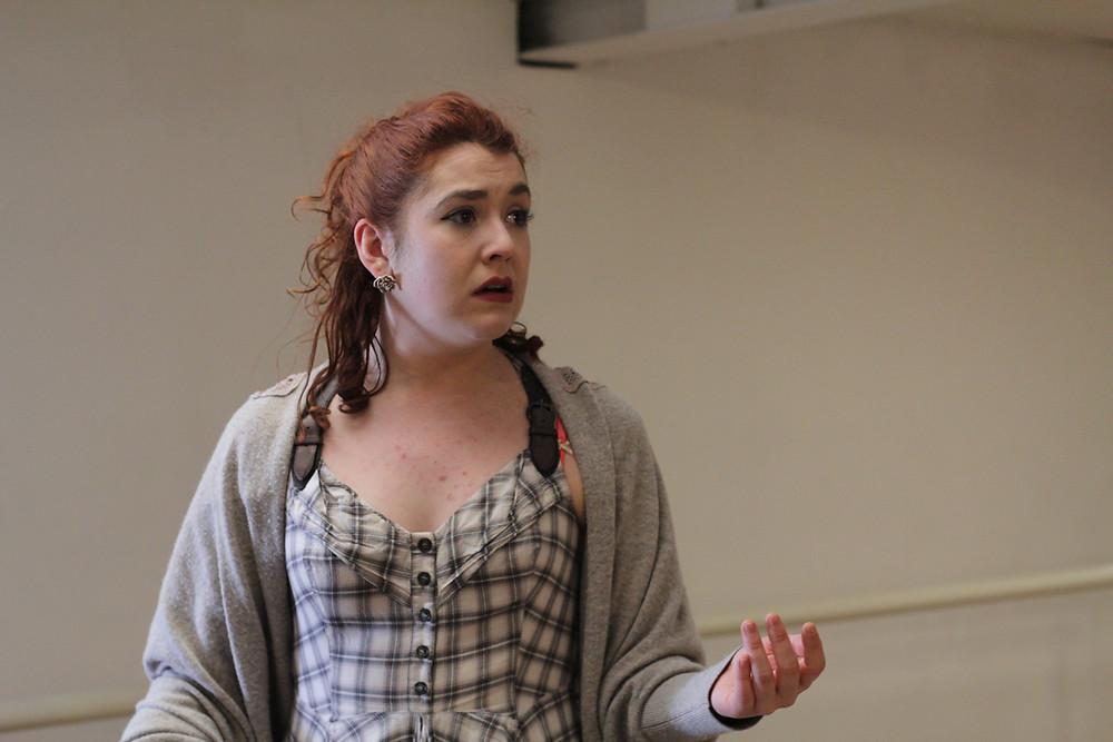 Zoe Most in rehearsal