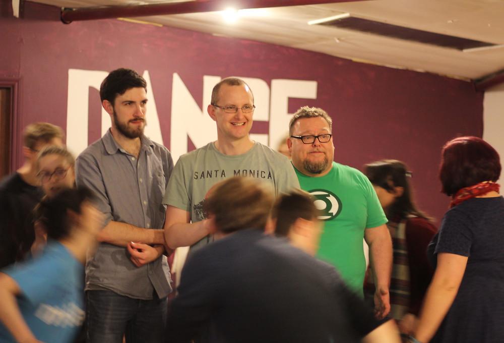 Angus Reid (Benny), Alan Digweed (Nathan), Jim Woods (Nicely)