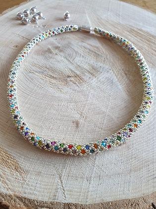 Halskette ROMA, Multicolor-silber