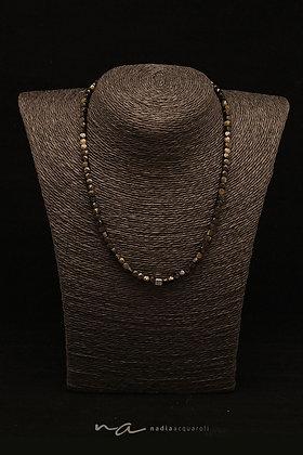 Edelstein-Halskette,Obsidian