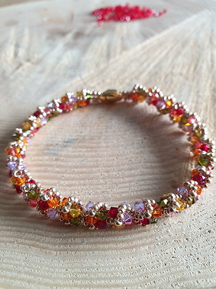 """Armband """"Wien, Multicolor Herbst, gold"""