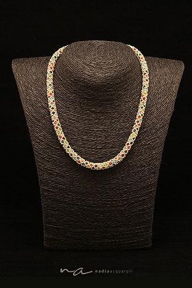 "Halskette ""Rom"", Multicolor-silber"