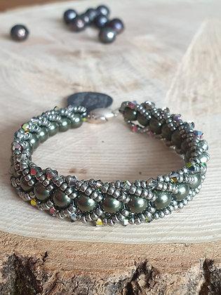 Armband aus Swarovski-Perlen, grün