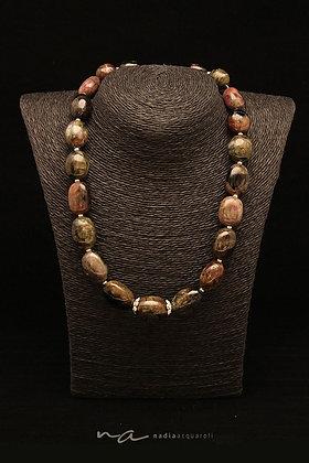 Edelstein-Halskette, Turmalin + Silber