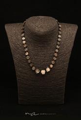 279-Halskette Perlmutt - Langer Magnetve