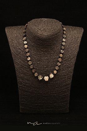 Edelstein-Halskette, Perlmutt