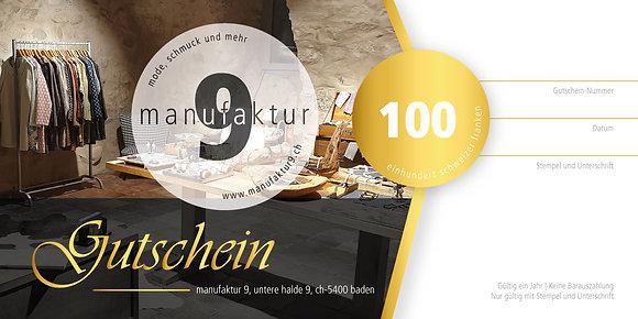 Gutschein - Fr. 100.-