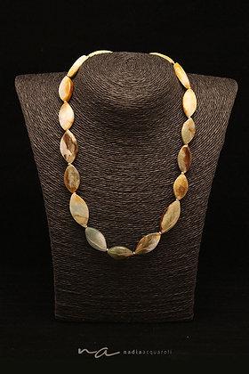 Edelstein-Halskette, Jade + Silber