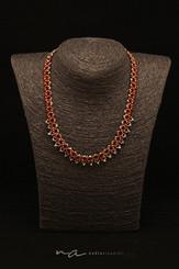 129 - Halskette Swarovski rot - Silber M