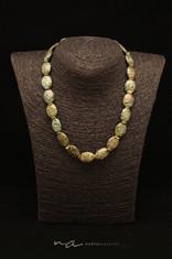 119 - Halskette afrikanischer Jaspis + V