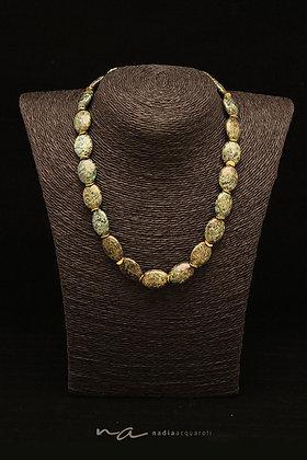 Edelstein-Halskette, afrik. Jaspis