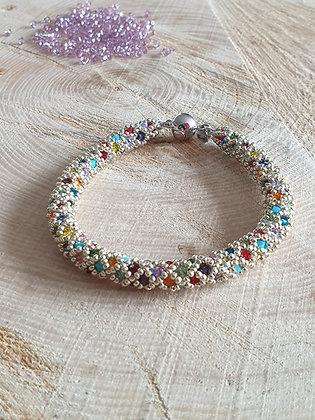Armband ROMA, Multicolor silber