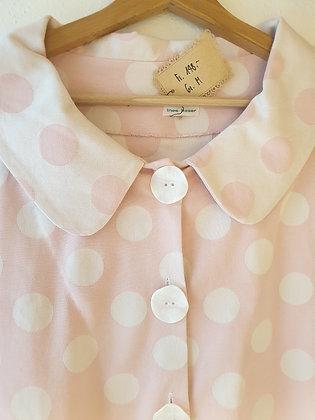 Damenmantel, rosa-weiss