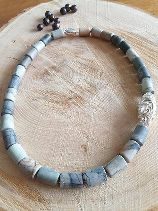 Halskette,Jaspis