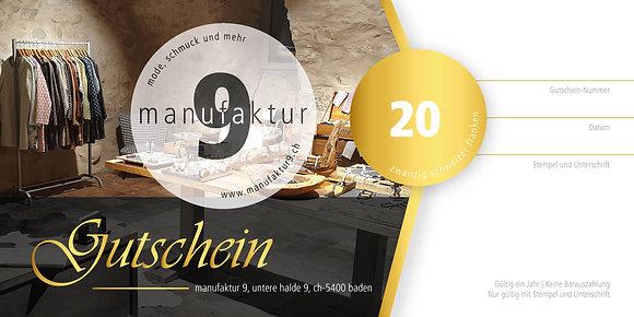 Gutschein - Fr. 20.-