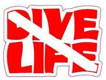 Sticker, Dive Life Flag