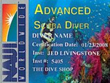 NAUI Advanced Scuba Diver - Private