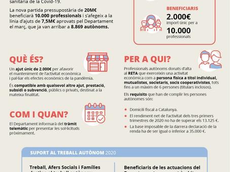 Ajudes de la Generalitat de Catalunya per al treball autònom