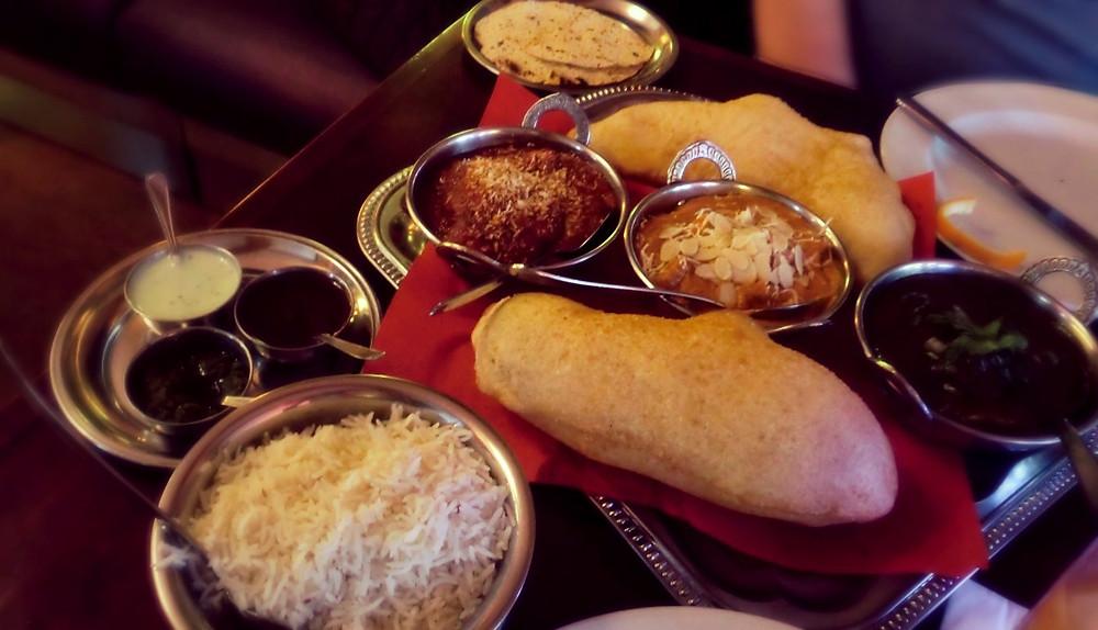 Das Brot mit den drei Dips und unser Hauptgang