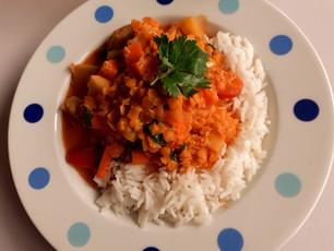 Heute gibt's indisch - Reihe: Rotes Linsen - Hähnchen - Curry (7)