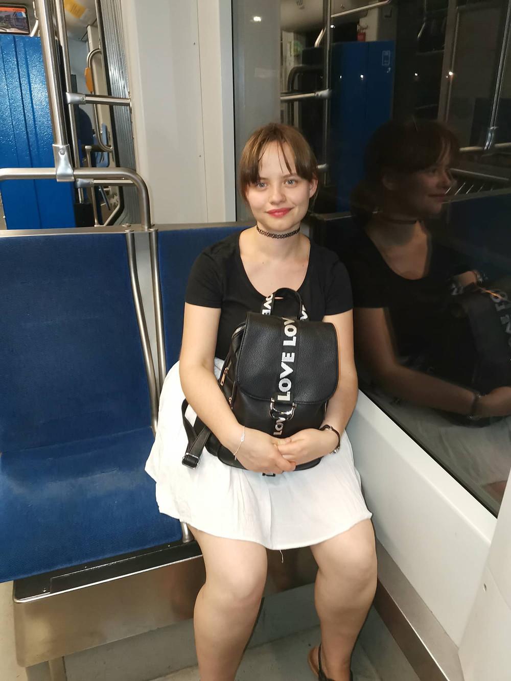 Ich in der Tram 15.