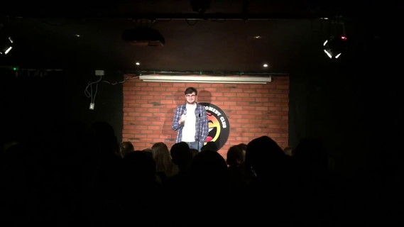 Performing at Hot Water Comedy Club, Liverpool