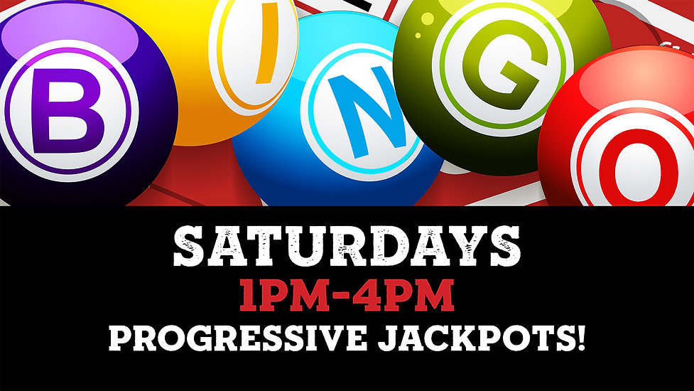Bingo at St. Paul Tap on Saturdays 1pm-4pm. Progressive jackpots!