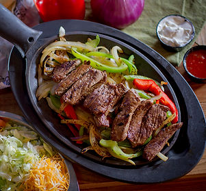 Pictured is our Steak Fajita