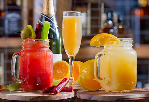 Our bloody mary, mimosa and screwdriver is pictured.