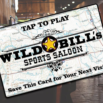 Picture of our Wild Bill's Gaming Card
