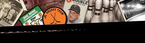 Collage of sport memorabilia