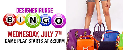 Wednesday, July 7th at 6:30pm we will be hosting a designer purse bingo. Come play and win!